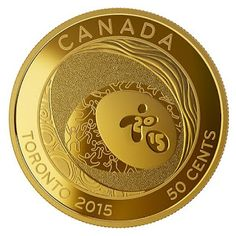 Canada 50-cent Gold-Plated Coin 2015 TORONTO 2015  Pan Am and Parapan Am Games: Celebrating Excellence