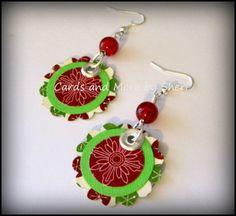 Boho Paper and Bead Christmas Dangle by CardsAndMoreBySheri, $8.50