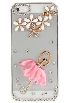 Sparkle Ballet Girl Flower Bling Crystal Diamond Case For iPhone 5 5G OMGosh, so you, Erin Pitts!! Morgan too!!