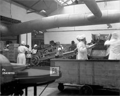 An poster sized print, approx (other products available) - The Duke of York watches lard being packed into cartons at the CWS Society& Margarine Factory at Higher Irlam in Lancashire. - Image supplied by PA Images - Poster printed in the USA Fine Art Prints, Framed Prints, Canvas Prints, Duke Of York, George Vi, Made In Uk, National Photography, Photographic Prints, 500 Piece Jigsaw Puzzles