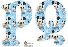 Festa Mickey Baby, Mickey Y Minnie, Disney Fun, Baby Disney, Letras Do Mickey, Alfabeto Disney, Cute Fonts, Baby Mouse, Alice In Wonderland Party
