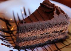 Chocolate Mousse Cake - This looks incredibly rich! <3