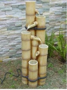 Medium Bamboo Fountain Water Feature
