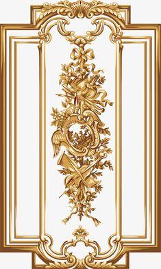 e bouter's media content and analytics Baroque Pattern, Pattern Art, Door Design, Wall Design, Motif Arabesque, Molduras Vintage, Flower Art Images, Baroque Decor, Wood Carving Designs