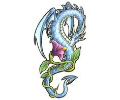 dragon tattoo / flower placement reference