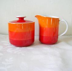 vintage sugar bowl and creamer - no maker name, made in Japan
