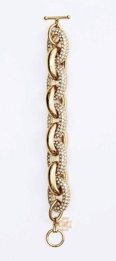 pave link bracelet / ann taylor