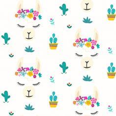 Seamless pattern with cute llama alpaca character vector graphic design. Cartoon llama head with flower crown illustration for party decor or print , Cartoon Llama, Cartoon Pics, Alpacas, Crown Illustration, Llama Face, Llama Arts, Betty Boop Cartoon, Llama Birthday, Birthday