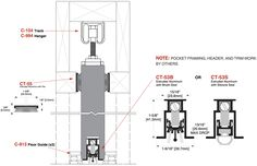 steel sliding door detail dwg - Google Search