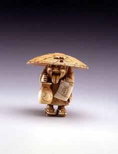 Unsigned,  Wandering Friar,  early 20th century,   ivory, height 1 ½ in. (3.8 cm),  The Toledo Museum of Art