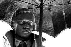 Status, melancholic sculpture in Budapest