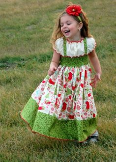 Toddler and Girl sizes 12m to 5 Christmas Dress Only a Few Left. $45.00, via Etsy.