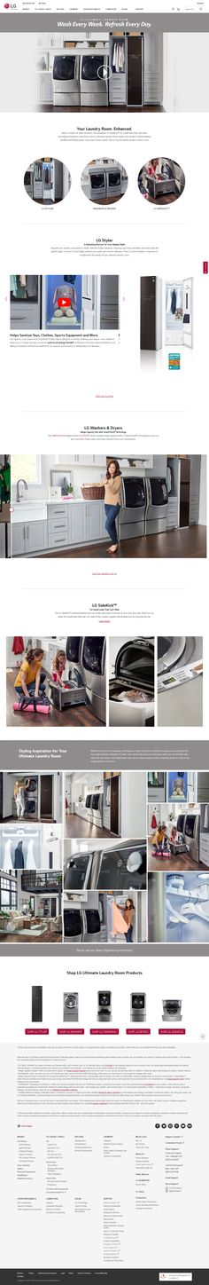 Discover the LG Ultimate Laundry Room. Featuring clean lines, sleek designs and innovative technology, it will give you the power to do more in less time. Laundry Room, Innovation, Technology, Design, Tech, Laundry Rooms, Tecnologia, Laundry