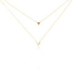 Collier Yora Or Jaune - B3CFJW004HC - Histoire d'Or