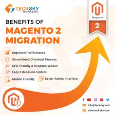 Our Magento experts are well experienced and updated with the latest #Magento2 versions to develop #eCommerce Magento solutions. Benefits of Magento 2 Integration. #Magento empowers thousands of business with the best eCommerce solution to get more ROI. . For more information, consult with our experts. Reach Us Today at info@tecksky.com #websitedesign #ecommerce #WebDeveloper #SEO #bestMagentocompany #webdevelopment #ITServices #Technology #SoftwareDevelopment #tecksky #magentodevelopers Ecommerce Solutions, Software Development, Mobile App, Seo, How To Get, Technology, Business, Tech, Mobile Applications