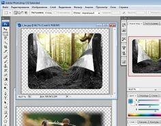 Закругленные углы картинок в программе Photoshop.