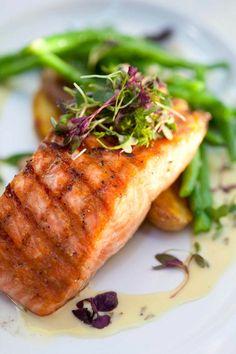 Grilled Salmon #lagrandeorangecafe