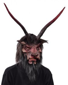 Overlord Mask SKU: MG1006 Distinctive Traditional Devil sculpt, Strong Presence, Long Magnificent horns and defined facial features, fantastic visibility and comfort. Moving mouth makes for a great instant interactive character.  Zagone Masks & Costumes | Zagone Studios