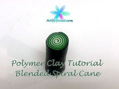Polymer Clay Tutorial - How to Make a Blended Spiral Cane - Lesson #8 - YouTube