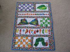 Awesome hungry caterpillar quilt