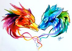 Fire and Ice Tattoo by Lucky978 on deviantART
