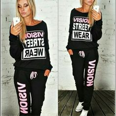 PRE-ORDER ONLY ! 2 PIECE TRACK SUIT Pre-order only! Super cool sweat suit Vision Street Wear is what it says very unique and rare in Black  or grey available in sizes small through extra extra large once you pay for the item is specified the size and color you want I will order it and the sooner you order the better due to the fact that it can take a while to come in also all pre-order items are 25% off two or more Visions Street Wear  Pants Track Pants & Joggers