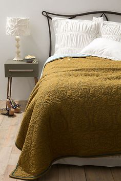 Marseille Coverlet - Anthropologie.com  BUT, BUT - WHAT ABOUT THE CHENILLE COVERED LAMPSHADE ON THAT LAMP!!!
