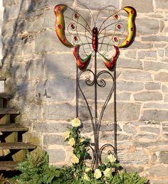 Metal Butterfly Trellis Garden Sculpture