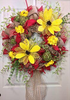 Everyday Burlap Wreath on Etsy, $139.00
