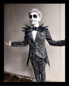 My son Albert as Jack Skellington | DIY costume.