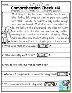 It is important to squeeze in social skills lessons wherever you can when teaching students! Our Reading Comprehension Checks for May include lessons on basic life skills among many other simple stories. These activities help build fluency and comprehension while encouraging students to look for text evidence and practice writing good responses.