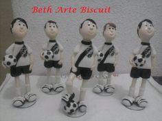 Time futebol em biscuit