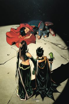 Damian Wayne with his mother Talia take down Superboy Batman Y Superman, Son Of Batman, Superman Family, Damian Wayne, Arte Dc Comics, Marvel Comics, Gotham, Talia Al Ghul, Comic Art Community