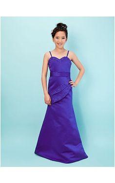 Trumpet/ Mermaid Sweetheart Floor-length Taffeta Junior Bridesmaid Dress