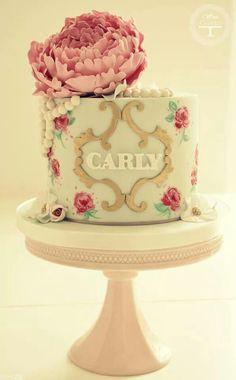 monogram design cake