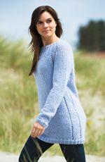 Strikkeopskrift | Strik en lang, blød sweater Women Wear, Pullover, Lady, Sweaters, How To Wear, Dresses, Fashion, Blouse, Fashion Styles