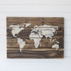 Diy wooden world map art hang on wall then stick straight pins in diy wooden world map art hang on wall then stick straight pins in where youve been diy clever ideas pinterest you ve walls and craft gumiabroncs Images