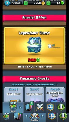 Another friend gets a legendary chest in the shop...