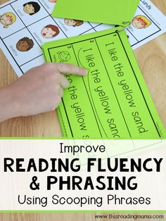 Improve Reading Fluency & Phrasing Using Scooping Phrases - This Reading Mama