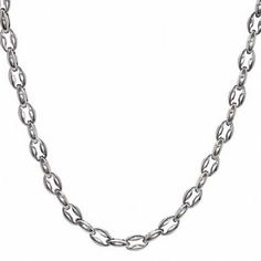 """Zales Men's 12.0mm Anchor Link Chain Necklace in Stainless Steel - 22"""""""