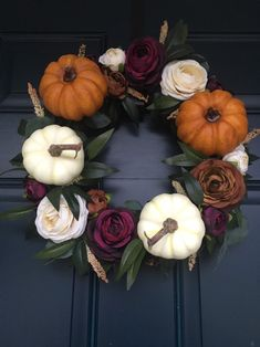 Excited to share this item from my shop: Fall Pumpkin Eucalyptus Floral Wreath Thanksgiving Decorations, Seasonal Decor, Halloween Decorations, Holiday Decor, Thanksgiving Diy, Outdoor Fall Decorations, Rustic Thanksgiving Decor, Fall Centerpiece Ideas, Outdoor Fall Wreaths