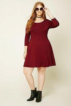 Plus Size Skater Dress
