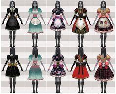 Alice madness returns dresses