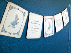 Vintage Baby Shower Banner  Peter Rabbit   by Theturningofapage, $19.65