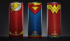 Les canettes Red Bull en mode Super-Héros
