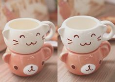 Kawaii stacking mugs! <3