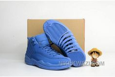 "http://www.nikekwazi.com/2016-air-jordan-12-blue-suede-shoes.html 2016 AIR JORDAN 12 ""BLUE SUEDE"" SHOES Only $95.00 , Free Shipping!"