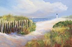 Off Shore Breeze  by Jacqueline Penney Beach Art Giclee Print