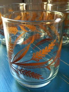 Set of 5 Libbey vintage juice glasses.
