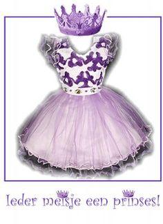 Paarse prinsessen jurk met 'diamanten'
